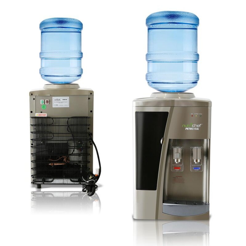 NutriChef Freestanding Hot and Cold Electric Water Cooler