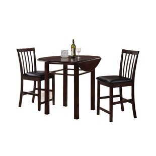 Duxbury 3 Piece Counter Height Dining Set by Winston Porter Discount