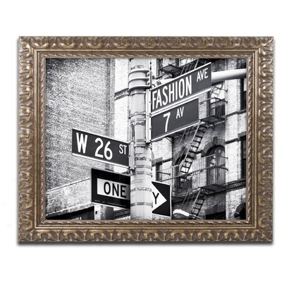 Latitude Run Fashion Avenue NYC Framed Photographic Print | Wayfair