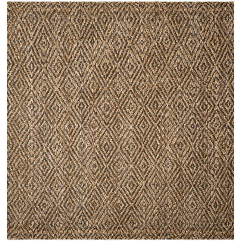 Grassmere Geometric Handmade Flatweave Jute Natural/Gray Area Rug. #rugs #juterugs #wovenrug