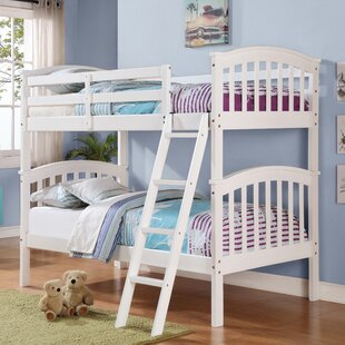 Compare prices Ilbert Twin over Twin Slat Bunk Bed by Harriet Bee Reviews (2019) & Buyer's Guide