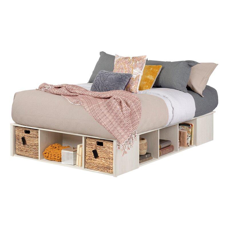 South S Lilak Storage Platform Bed
