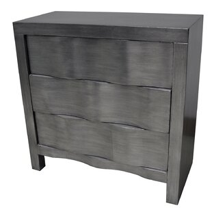 Brayden Studio Griffie 3 Drawer Hidden Handle Chest
