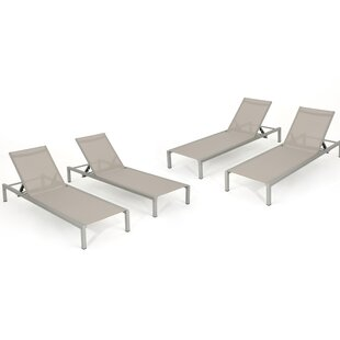 Sumfleth Reclining Chaise Lounge (Set of 4)