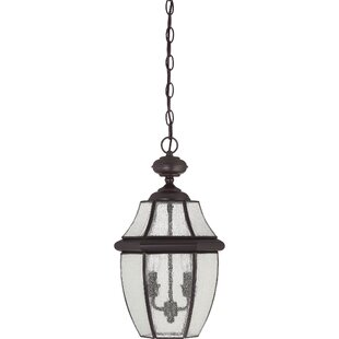 Mellen 2-Light Outdoor Hanging Lantern by Three Posts