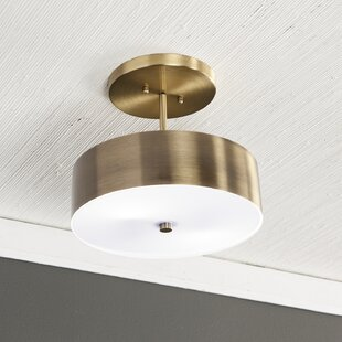 Sachar 1-Light Semi Flush Mount by Wrought Studio