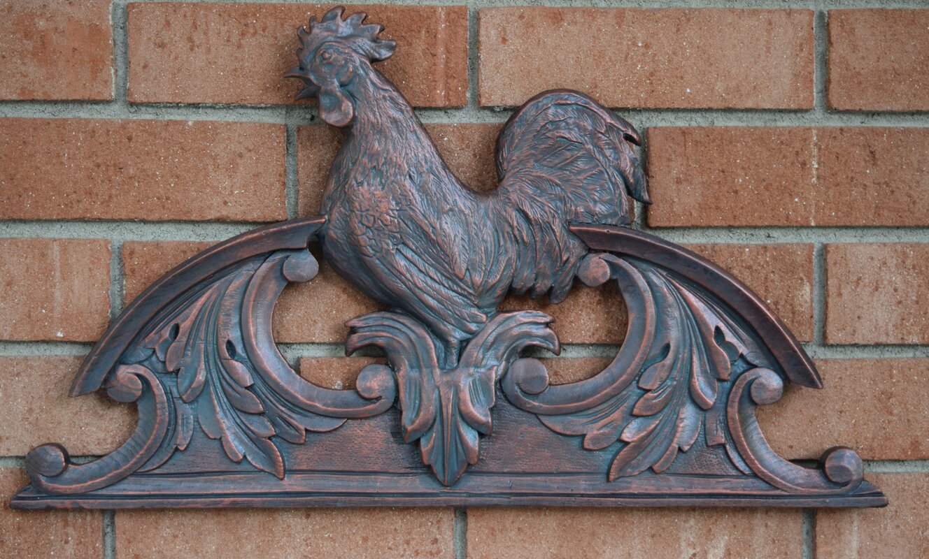 Hickory Manor House Outdoor Rooster Overdoor Wall Decor & Reviews ...
