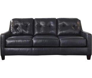 Red Barrel Studio Stouffer Leather Sleeper Sofa