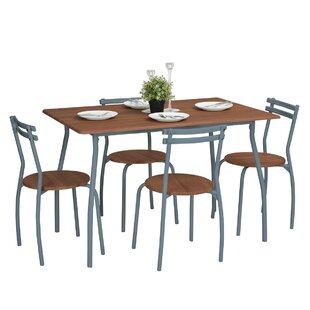 Wrenn Dining Set With 4 Chairs By Mercury Row