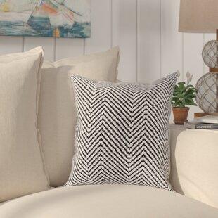 Yochman Textured Contemporary Cotton Throw Pillow