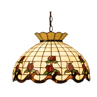 Meyda Tiffany Victorian 3-Light Tiffany Bowl Pendant