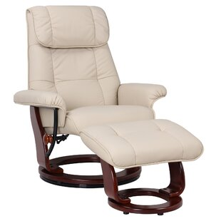Affordable Célia Leather Manual Swivel Recliner with Ottoman by Red Barrel Studio Reviews (2019) & Buyer's Guide