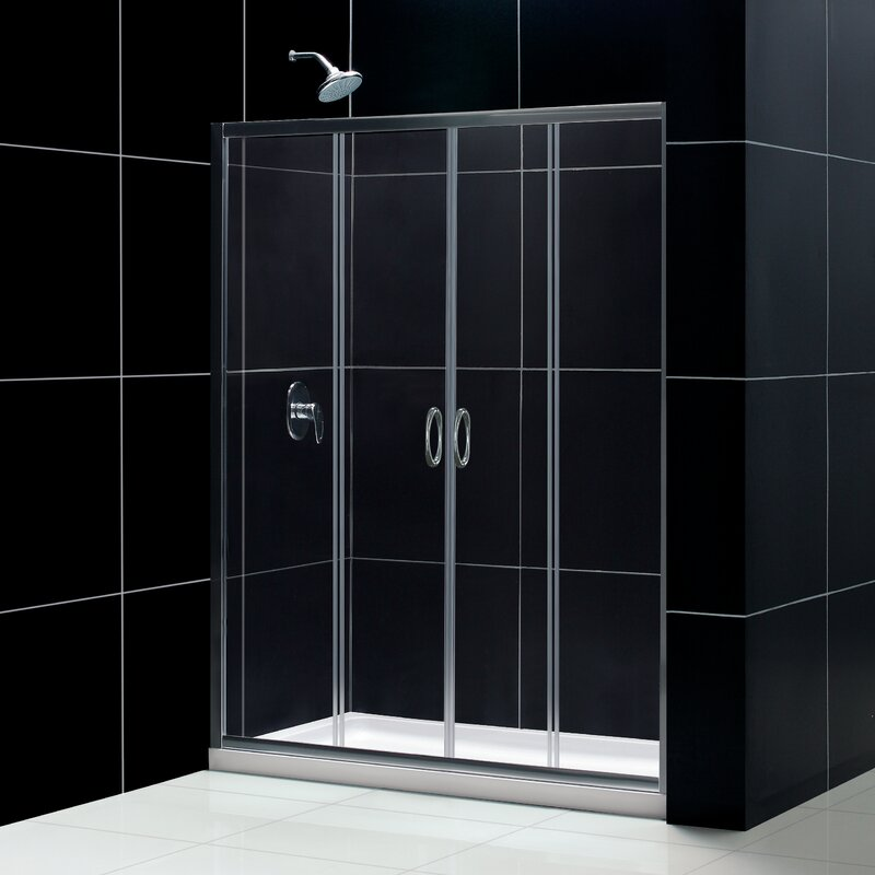 dreamline visions 60 x 72 double sliding frameless shower door - Delta Shower Doors
