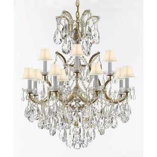 House of Hampton Amina Swarovski 13-Light Shaded Chandelier