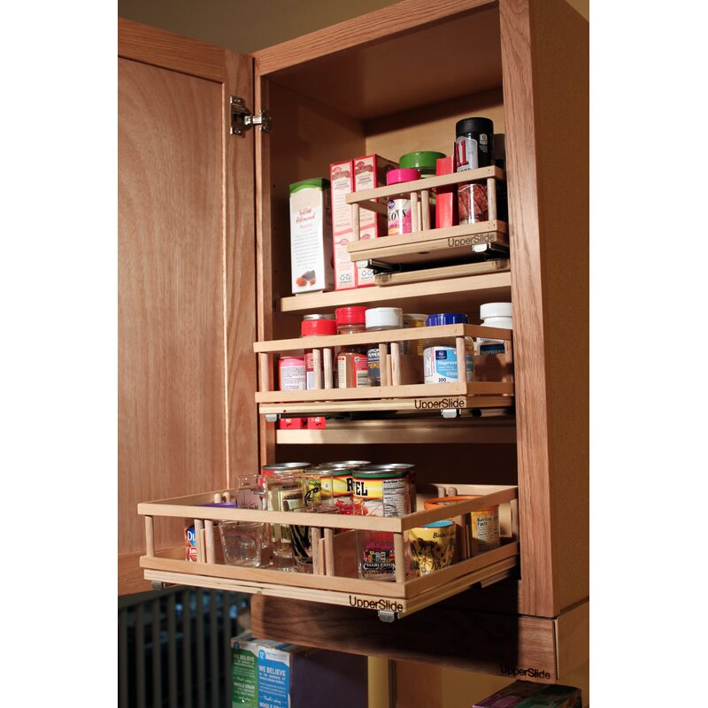 Etonnant Upper Cabinet Spice Rack Caddy Large Pull Out Drawer