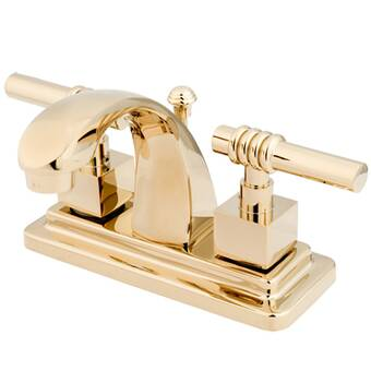 Kingston Brass KS7612GL Georgian 4-Inch Centerset Lavatory Faucet with Brass Pop-Up 4-3//4 Polished
