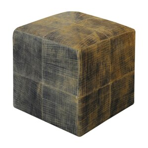 Xander Leather Ottoman by Loon Peak
