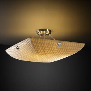 Salaam 3-Light Semi Flush Mount by World Menagerie