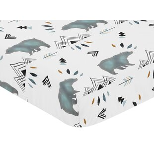 Great Price Bear Mountain Fitted Crib Sheet By Sweet Jojo Designs