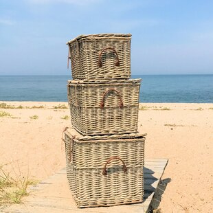 Maggio 3 Piece Wicker Trunk Set by Highland Dunes