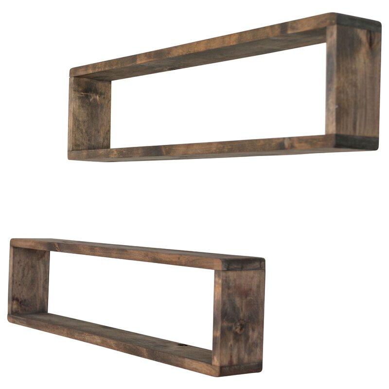 Union Rustic Perdomo Stackable Long Box Wall Shelf Reviews Wayfair