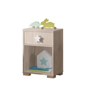 Copeland 1 Drawer Bedside Table By Zoomie Kids
