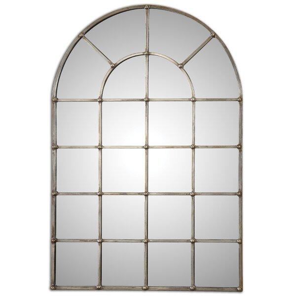 Metal Arch Window Wall Mirror
