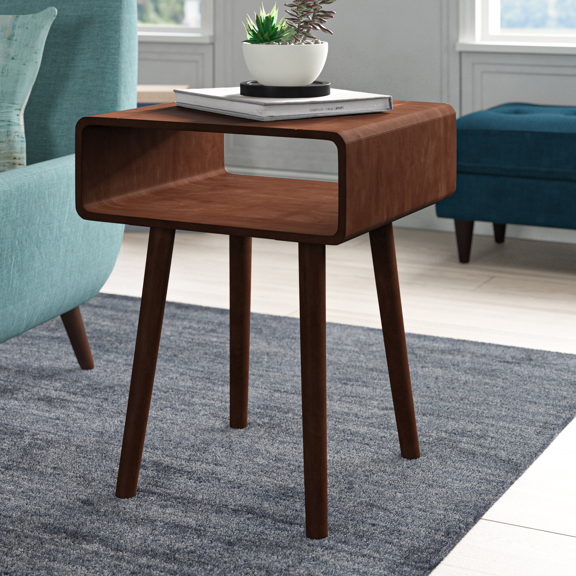 Image of: Mid Century Modern End Side Tables You Ll Love In 2020 Wayfair