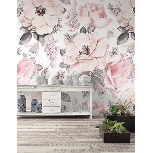 Rose Wall Mural Wayfair
