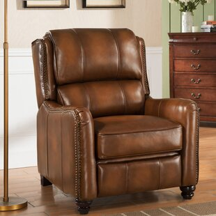 Darby Home Co Aida Leather Manual Recliner