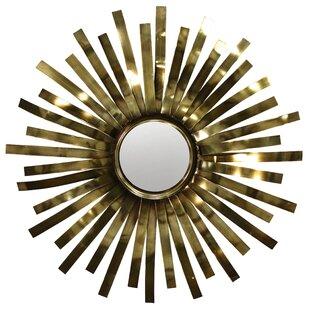 Bloomsbury Market Barcroft Sunburst Round Wall Accent Mirror