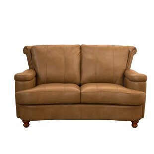 Heathridge Leather Loveseat
