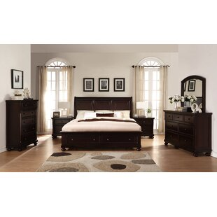 Roundhill Furniture Brishland Queen Platform 6 Piece Bedroom Set