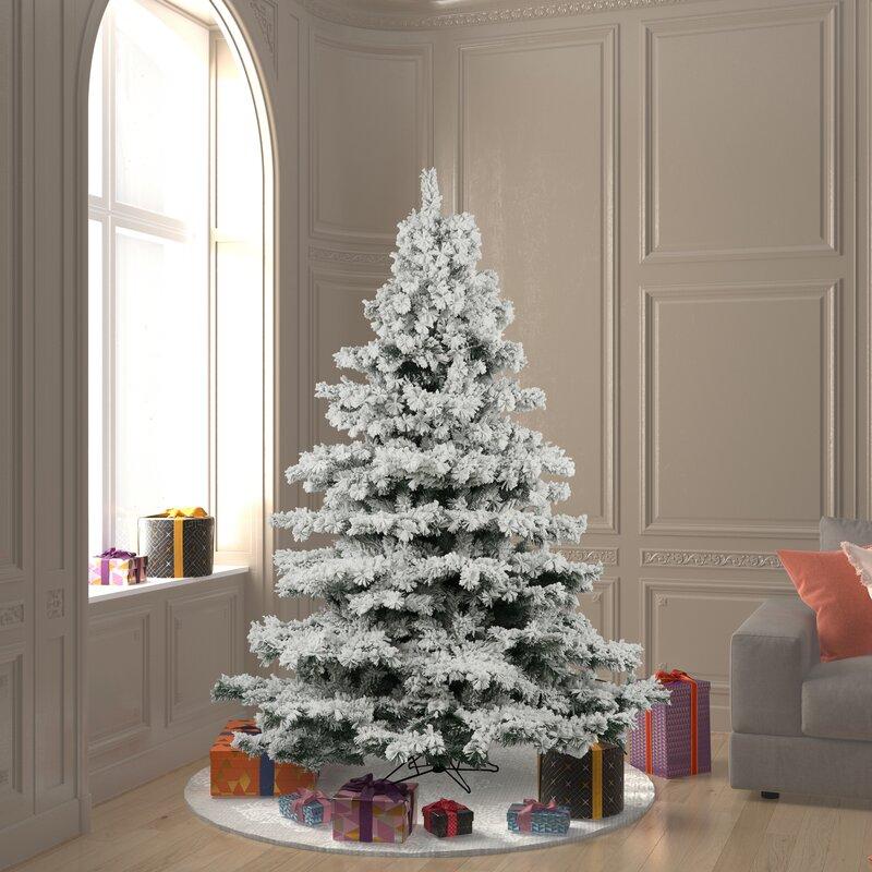 Three Posts White Green Pine Artificial Christmas Tree Reviews Wayfair