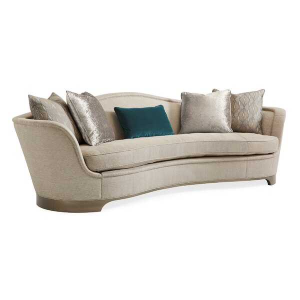 Caracole Classics Curved 109 Flared Arm Sofa Perigold