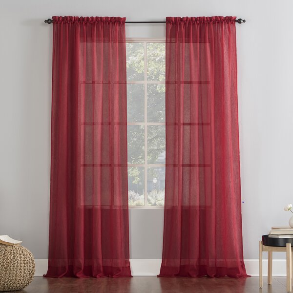 Crushed Voile Sheer Curtains Wayfair