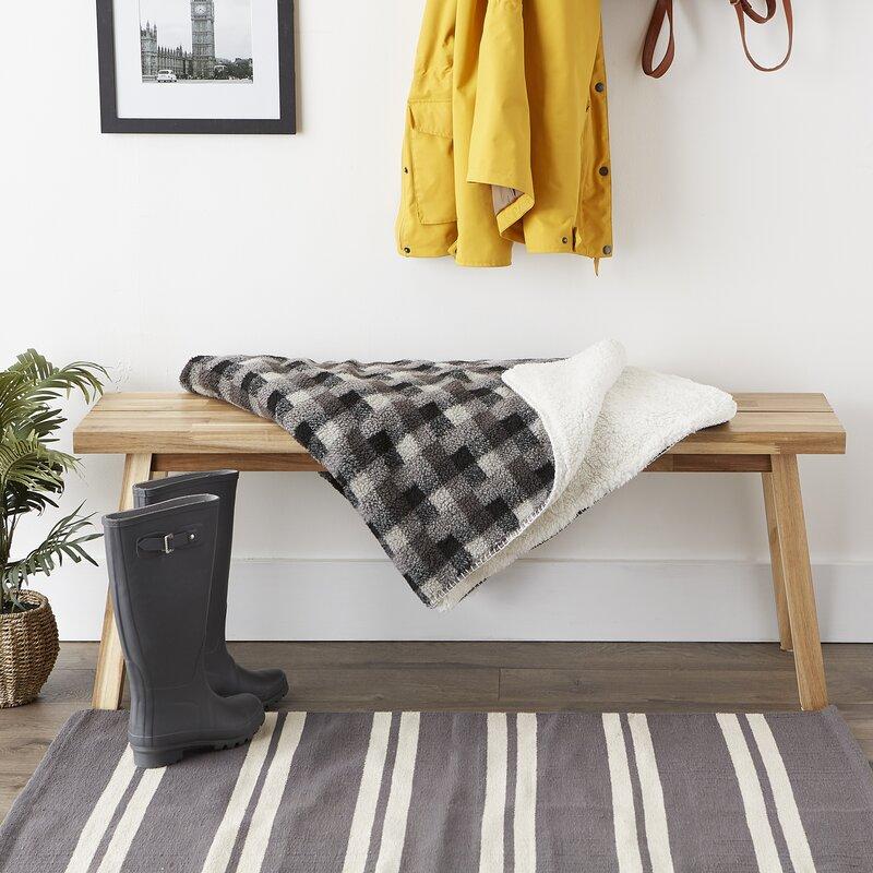 J M Home Fashions Jacquard Sherpa Fleece Throw Blanket Reviews Wayfair