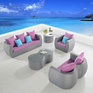 Orren Ellis Holcombe 5 Piece Sofa Set with Cushions