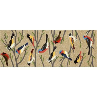 Ismay Birds Cream/Black Indoor/Outdoor Area Rug