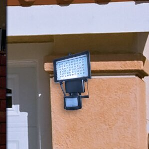 solar powered motion activated led 60light outdoor flood light set of 2