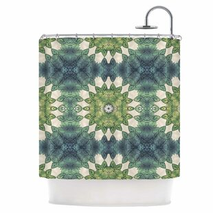 Leaves Repeat Single Shower Curtain