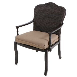 Bungalow Patio Dining Chair with Cushion (Set of 2)