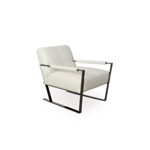 Irvin Gun Metal Armchair by 17 Stories