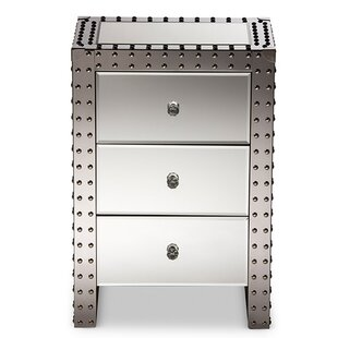 Lueras 3 Drawer Nightstand by 17 Stories