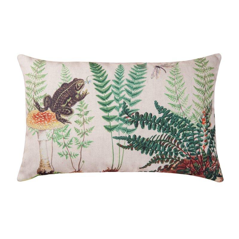 Hickerson Fern Frog Indoor Outdoor Lumbar Pillow Birch Lane