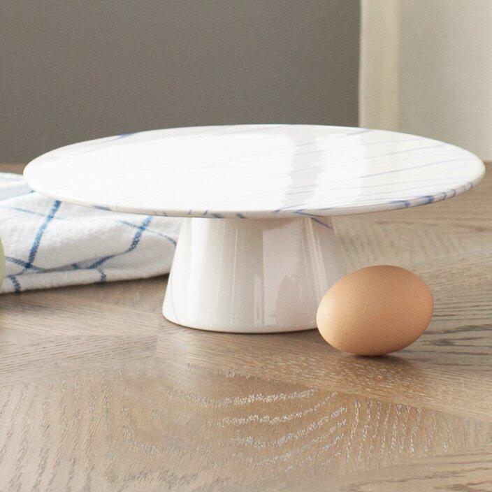 Marbled Ceramic Cake Stand & Birch Lane™ Marbled Ceramic Cake Stand \u0026 Reviews | Wayfair