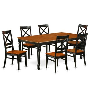 Pimentel 7 Piece Solid Wood Dining Set by..