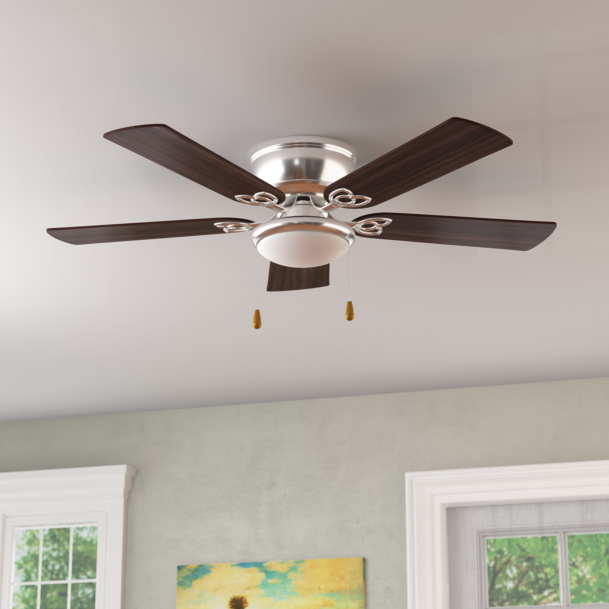 Peace Symbol Ceiling Fan Light Pull