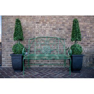 Mathis Pineapple Metal Garden Bench