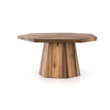 Hennigan Yukas Solid Wood Dining Table by Foundry Select